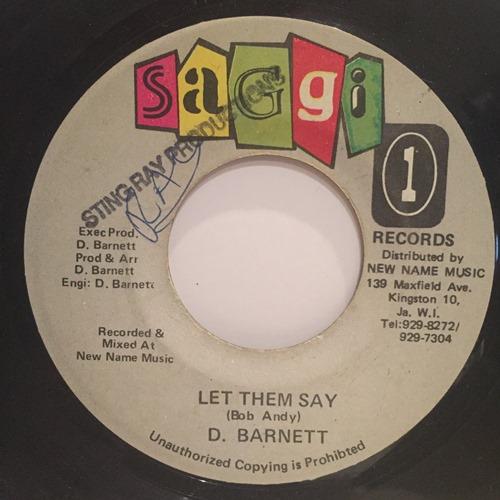 D. Barnett – Let Them Say