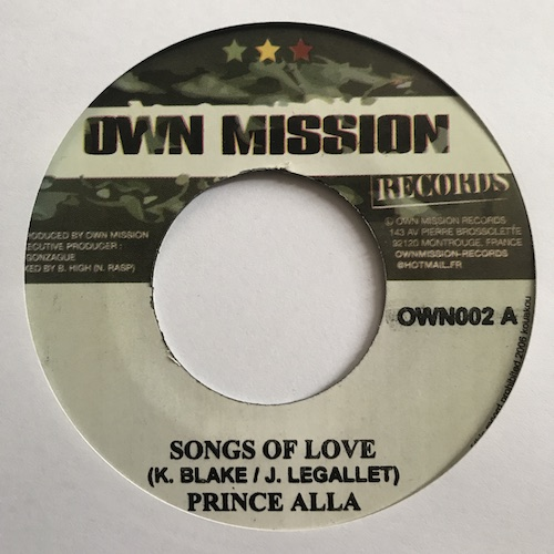Prince Alla – Songs Of Love
