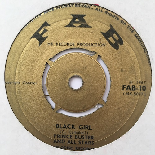 Prince Buster And All Stars – Shaking Up Orange Street / Black Girl
