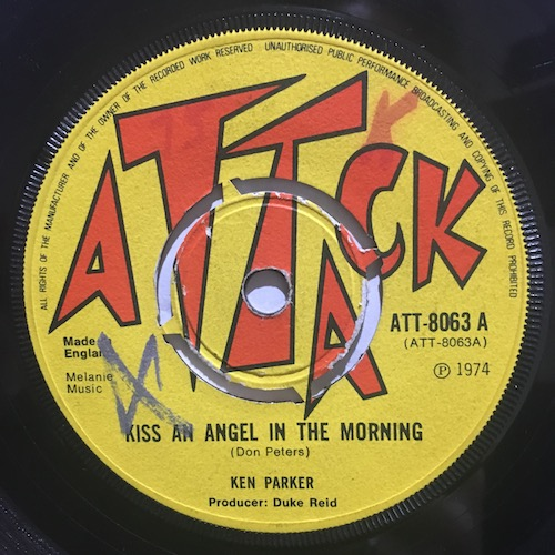 Ken Parker / Tommy McCook – Kiss An Angel In The Morning / Inez