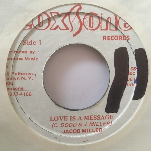 Jacob Miller – Love Is A Message