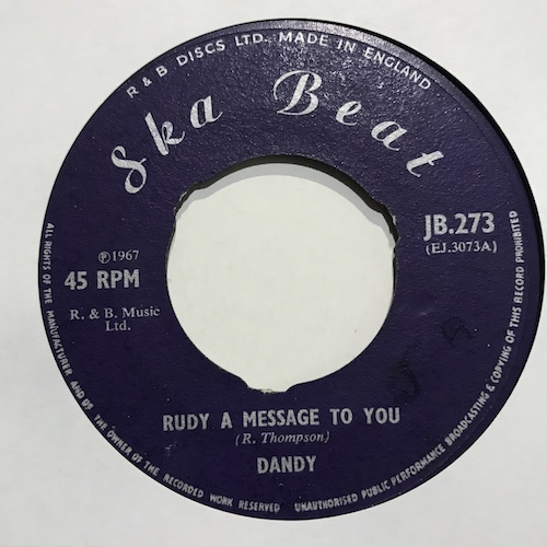 Dandy / Dandy And His Group – Rudy A Message To You / Till Death Do Us Part