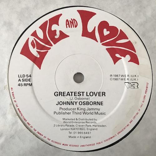 Johnny Osborne / Hugo Barrington – Greatest Lover / Lover's Rock Is Back