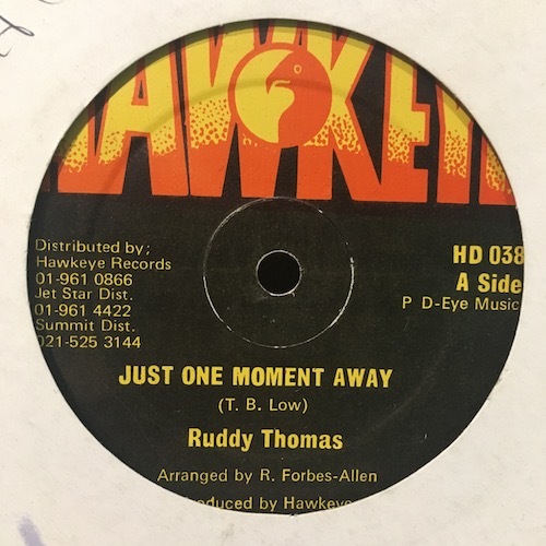 Ruddy Thomas – Just One Moment Away