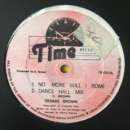 Dennis Brown / Jah Screw – No More Will I Rome