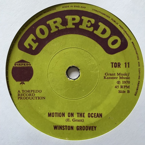 Winston Groovey – Please Don't Make Me Cry / Motion On The Ocean