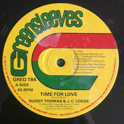 Ruddy Thomas & J. C. Lodge – Time For Love