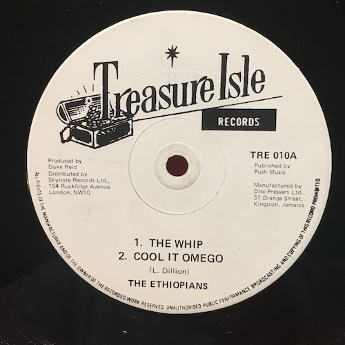 The Ethiopians / Bobby Ellis – The Whip / Cool It Omego / Shank I Sheck