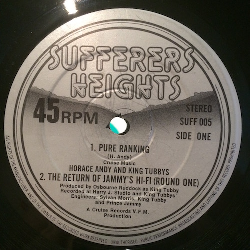 Horace Andy And King Tubbys / Trevor Ranking – Pure Ranking / Whip Them Jah Jah
