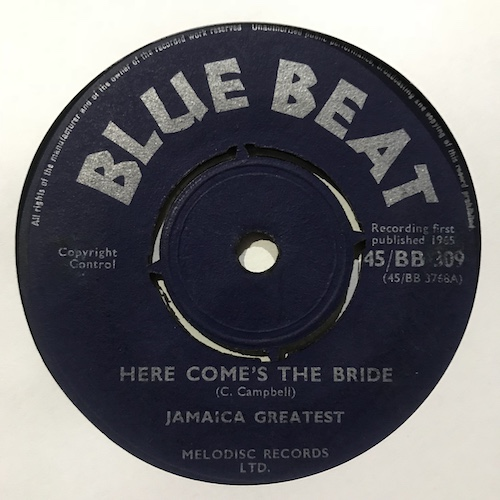 Jamaica Greatest – Here Come's The Bride