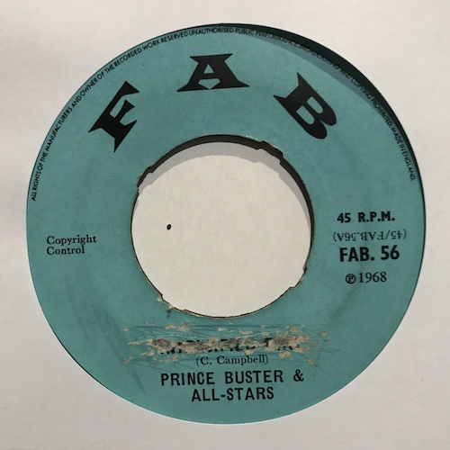 Prince Buster & All-Stars – Intensified Dirt / Don't You Know I Love You So