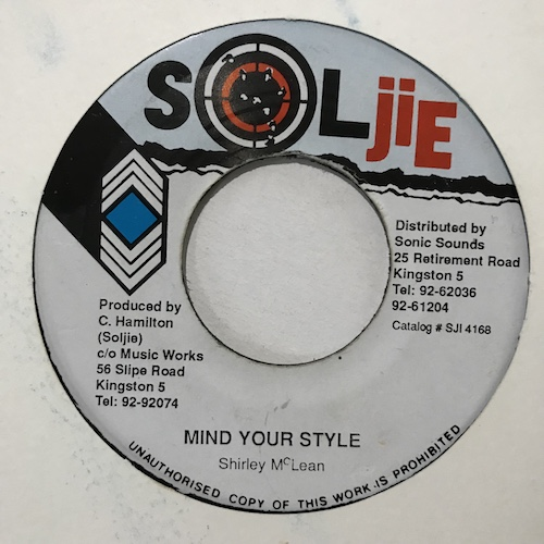 Shirley McLean – Mind Your Style
