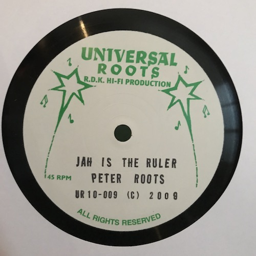 Ruben De Silva / Peter Roots – Strange Things / Jah Is The Ruler