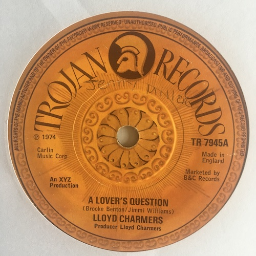 Lloyd Charmers – A Lover's Question