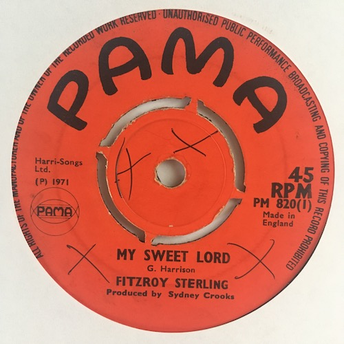Fitzroy Sterling – My Sweet Lord / Darling That's Right