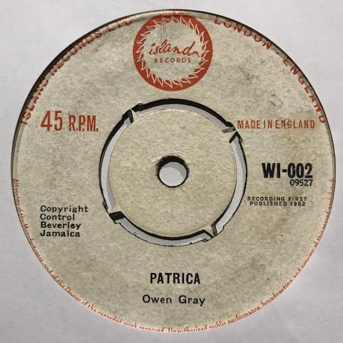 Owen Gray – Twist Baby / Patricia