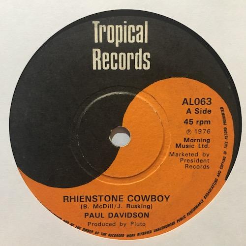 Paul Davidson – Rhienstone Cowboy