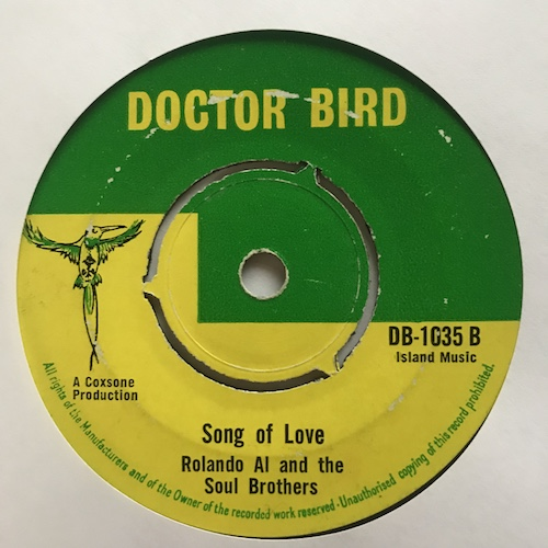 Roland Al And The Soul Brothers – I Love You / Song Of Love