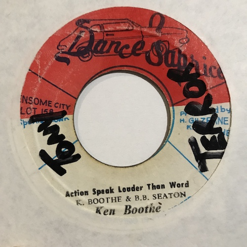 Ken Booth – Action Speak Louder Than Word