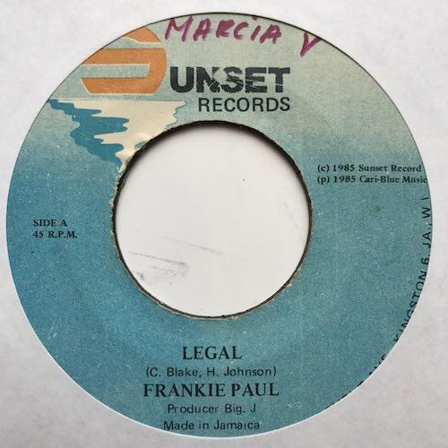Frankie Paul – Legal
