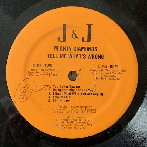The Mighty Diamonds -     Tell Me What's Wrong ⋆ Tribe84